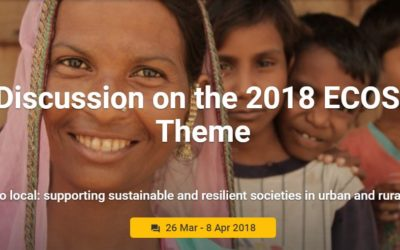 "Join the e-Discussion: ""From global to local: supporting sustainable and resilient societies in urban and rural communities"""
