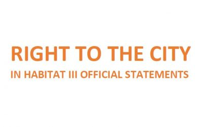 Right to the City in Habitat III Official Statements