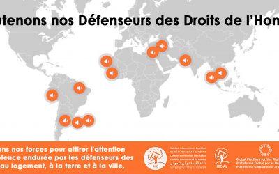 La PGDV se mobilise pour les défenseurs de nos droits humains liés à l'habitat