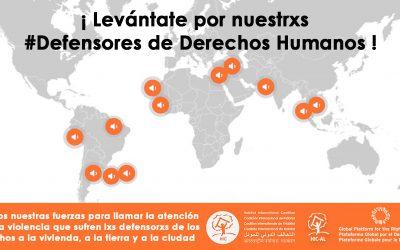 La PGDC se moviliza por las defensoras y defensores de nuestros derechos humanos relativos al hábitat