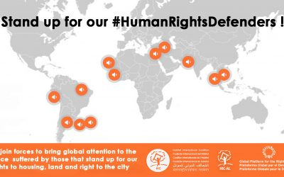 The GPR2C stands up for the defenders of our human rights related to habitat