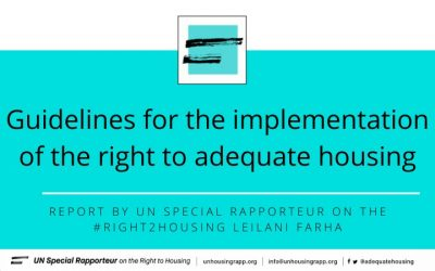 Special Rapporteur's guidelines for the implementation of the Right to Adequate Housing