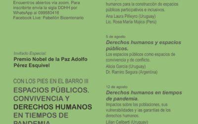 Espacios Públicos Convivencia y Derechos Humanos en tiempos de Pandemia
