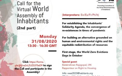 Virtual World Assembly of Inhabitants (2nd part)