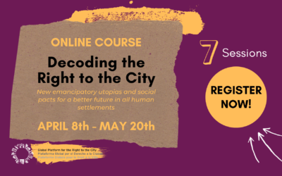 "Online course ""Decoding the Right to the City"""