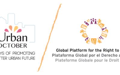 Initiatives des adhérent.e.s et allié.e.s de la PGDV pendant l'Octobre Urbain 2020