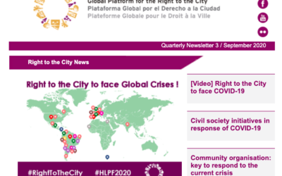 Right to the City News-September 2020