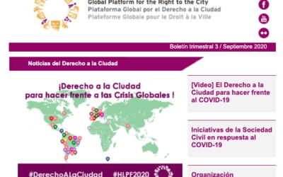 Noticias del Derecho a la Ciudad-Septiembre 2020