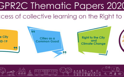 The creation of the GPR2C's Thematic Papers