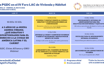 La PGDC en el IV Foro LAC de Vivienda y Hábitat