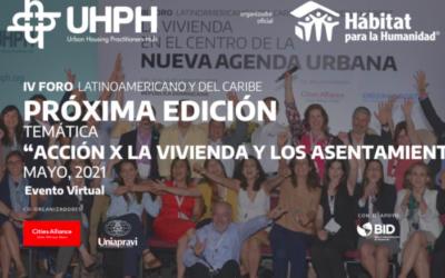 IV Foro Latinoamericano y del Caribe: Acción por la Vivienda y por los asentamientos Pos-Covid19