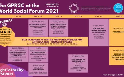 La PGDV au Forum Social Mondial 2021