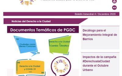 Noticias del Derecho a la Ciudad-Diciembre 2020