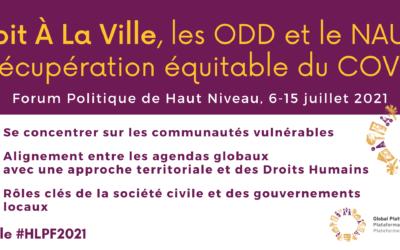 La PGDV au Forum Politique de Haut Niveau – HLPF 2021
