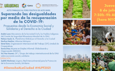 Social and Solidarity Economy is the way to overcome inequalities through the COVID-19 recovery