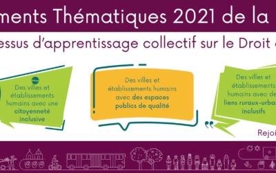 Documents Thématiques de la PGDV 2021: Une expérience d'apprentissage collectif sur le Droit à la Ville