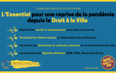 L'impact du COVID-19 sur notre Droit à la Ville