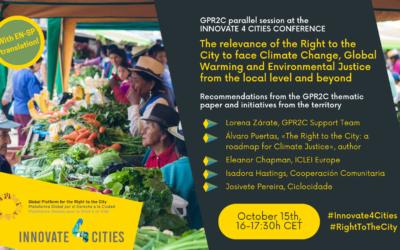La PGDC organiza una sesión paralela en la Innovate 4 Cities 2021