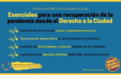 El impacto de la COVID-19 en nuestro Derecho a la Ciudad
